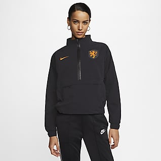 Países Bajos Camiseta de fútbol con cremallera de 1/4 - Mujer