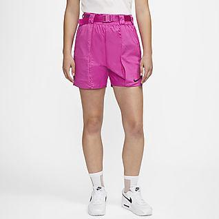 Nike Sportswear Swoosh Damenshorts aus Webmaterial