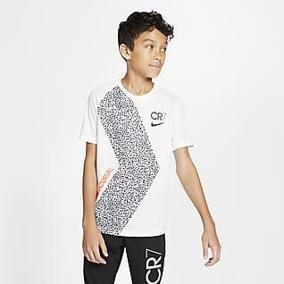 Nike Dri-FIT CR7 Camiseta de fútbol de manga corta para niños talla grande