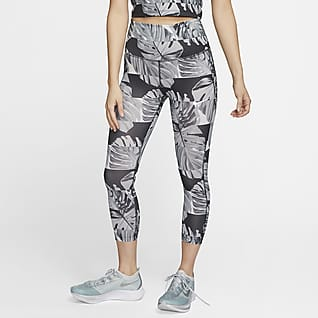 Nike Fast Women's High-Waisted Crop Printed Running Leggings