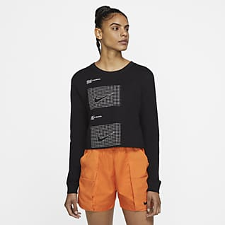 Nike Sportswear House of Innovation (NYC) Playera corta de manga larga para mujer
