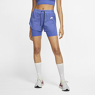 Nike Air 2-in-1-Laufshorts für Damen