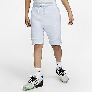 Nike Sportswear Tech Fleece Σορτς για μεγάλα παιδιά