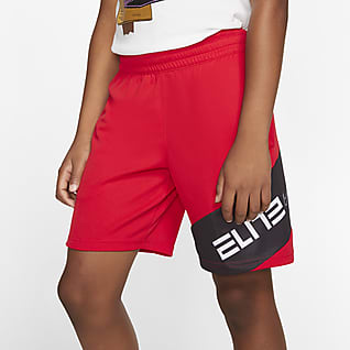 Nike Elite Shorts de básquetbol estampados para niño talla grande