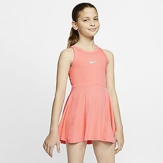 NikeCourt Dri-FIT Tenisové šaty pro větší děti (dívky)