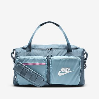 NIKE GRAPHIC STYLE GYM BAG BLUE DRAWSTRING BAG