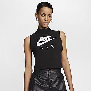 Nike Air Camisola sem mangas com gola junto ao pescoço para mulher