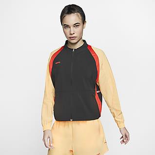 Nike F.C. Germany Tam Boy Fermuarlı Kadın Futbol Ceketi