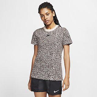 Nike Sportswear T-Shirt mit Animal Print für Damen