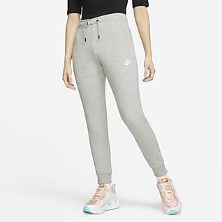 Nike Sportswear Essential Mellemhøje fleecebukser til kvinder