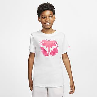NikeCourt Dri-FIT Rafa T-shirt do tenisa dla dużych dzieci (chłopców)