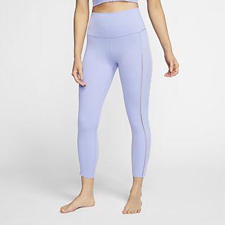 Nike Yoga Luxe 女款 Infinalon 九分羅紋緊身褲