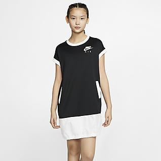 Nike Air Vestido de manga corta para niñas grandes
