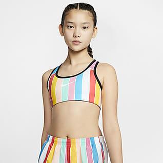 Nike Αθλητικός στηθόδεσμος διπλής όψης για μεγάλα κορίτσια