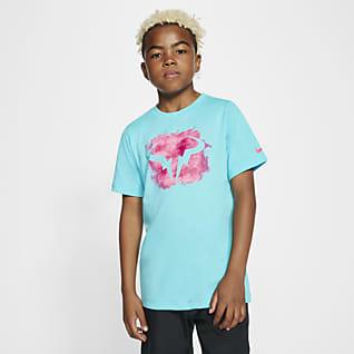 NikeCourt Dri-FIT Rafa Tennis-T-Shirt til store børn (drenge)
