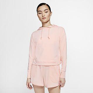 Nike Yoga เสื้อมีฮู้ดเอวลอยผู้หญิง
