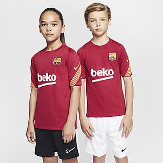 Μπαρτσελόνα Strike Κοντομάνικη ποδοσφαιρική μπλούζα για μεγάλα παιδιά