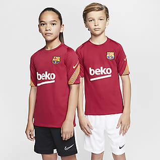 F.C. Barcelona Strike Older Kids' Short-Sleeve Football Top