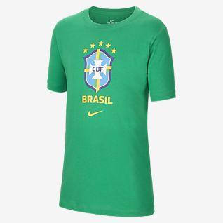 Brasil เสื้อยืดฟุตบอลเด็กโต