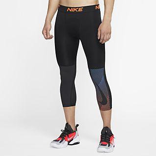 Nike กางเกงรัดรูปเทรนนิ่งสามส่วนผู้ชาย