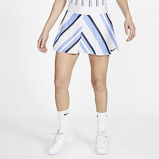 NikeCourt Dri-FIT Damen-Tennisrock mit Print