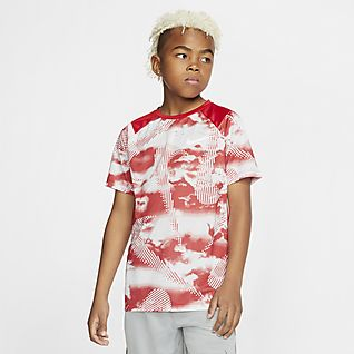 Nike Big Kids' (Boys') Short-Sleeve Printed Training Top