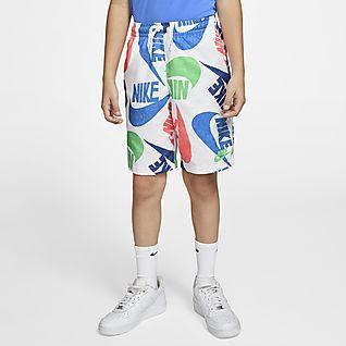 Nike Sportswear Υφαντό εμπριμέ σορτς για μεγάλα αγόρια