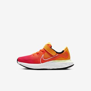 orange and white shoes
