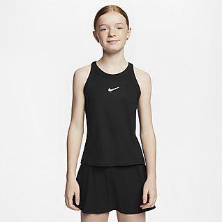 NikeCourt Dri-FIT Tenisztrikó nagyobb gyerekeknek (lányok)