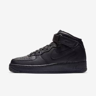 Homem Preto Air Force 1 Sapatilhas. Nike PT