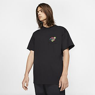 NIKE Just do it stripe shirt Just do it. 34th sleeves