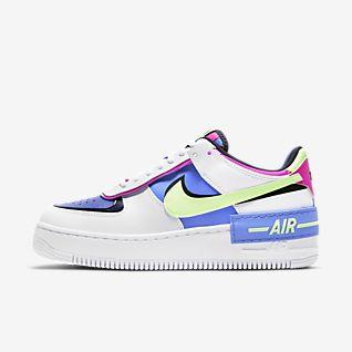 Mulher Branco Air Force 1 Perfil baixo Sapatilhas. Nike PT