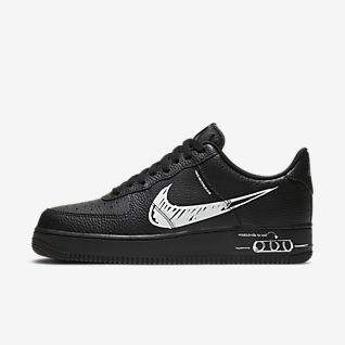 Preto Air Force 1 Sapatilhas. Nike PT