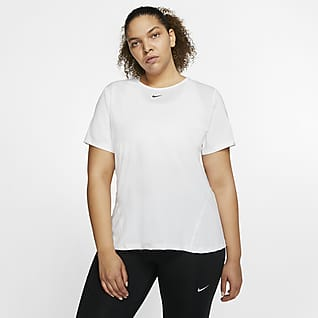 Nike Pro Damska siateczkowa koszulka (duże rozmiary)