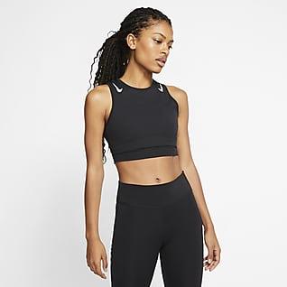 Nike AeroSwift Top corto de running para mujer