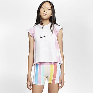 Nike Instacool Футболка для тренинга для девочек школьного возраста
