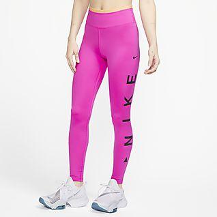 Nike One Icon Clash 7/8-tights med grafik og mellemhøj talje til kvinder