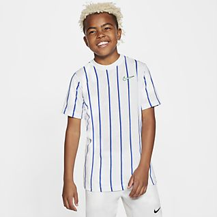 NikeCourt Dri-FIT Older Kids' (Boys') Tennis T-Shirt