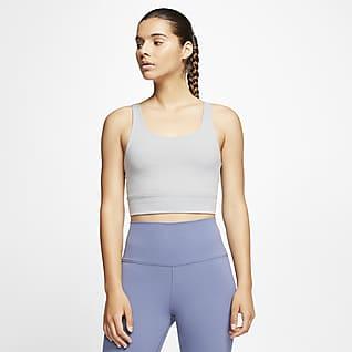 Nike Yoga Luxe Infinalon anyagú, rövid szabású női felsőrész