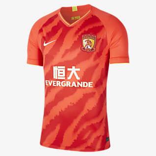 Guangzhou Evergrande Taobao FC 2020 Stadium Home Camiseta de fútbol para hombre
