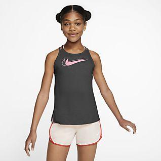 Nike Trophy Koszulka treningowa bez rękawów z grafiką dla dużych dzieci (dziewcząt)