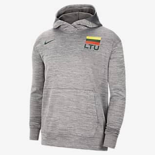 Lithuania Nike Spotlight Ανδρική μπλούζα μπάσκετ με κουκούλα