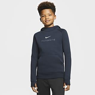 FFF Fleece Genç Çocuk Kapüşonlu Futbol Sweatshirt'ü