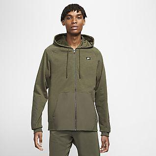 Nike Sportswear Huvtröja med dragkedja i fullängd för män
