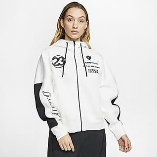 Jordan Moto Top in fleece leggero - Donna