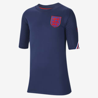 England Strike Older Kids' Short-Sleeve Football Top