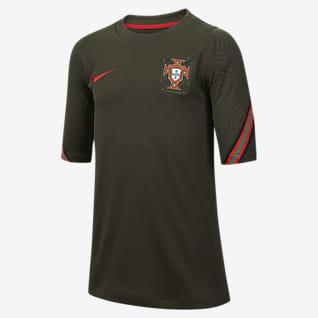 Portugal Strike Older Kids' Short-Sleeve Football Top