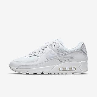 all white nike sneaker