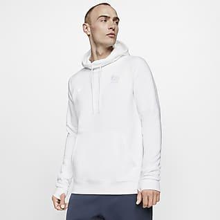 FFF Hoodie pullover de futebol de lã cardada para homem