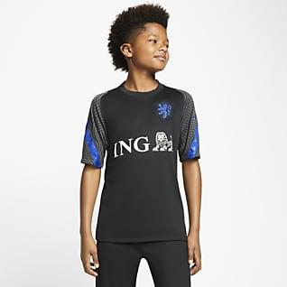 Países Baixos Strike Camisola de futebol de manga curta Júnior